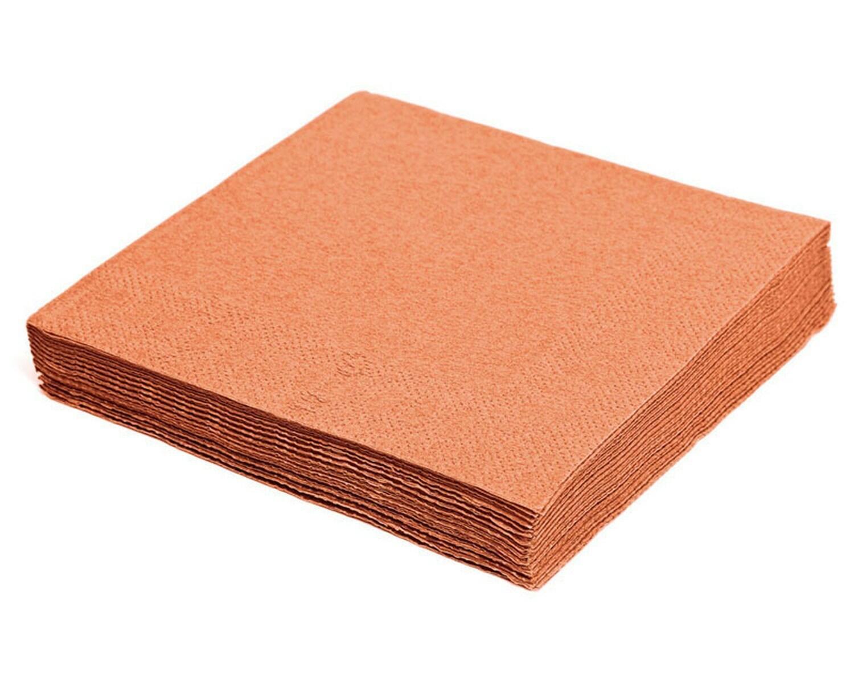 Servietten 33 x 33 cm 1/4 -Falz, 3-lagig apricot, 250 Stk.