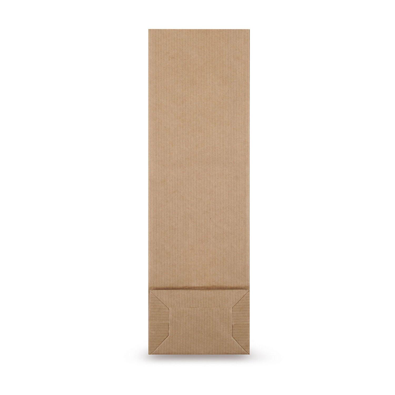 Blockbodenbeutel Natron Kraftpapier braun 80 + 50 x 250mm,  100 Stk.