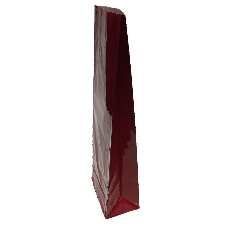 Blockbodenbeutel 3-lagig, Rot,  80 + 50mm x 250mm, 500 Stk.