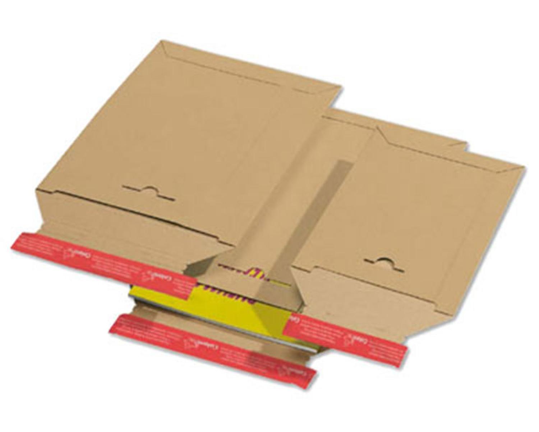 Karton-Versandtasche TP340, 265x350mm, SK mit Aufreißhilfe, Vollpappe, C4, braun