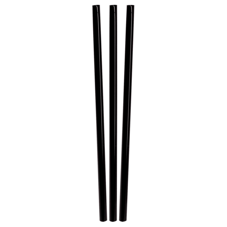 BIO Trinkhalme aus PLA schwarz Ø6mm 16cm, 150 Stk.