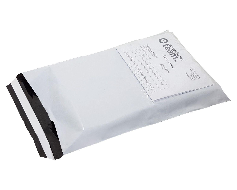 Folienversandtaschen mit Dokumententasche COEX 300x400+40mm, 70my, 100 Stk.