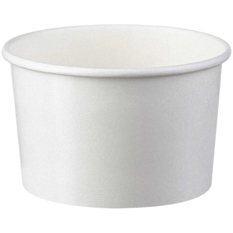 Eisbecher aus Papier weiß 125 ml 4oz, 50 Stk.