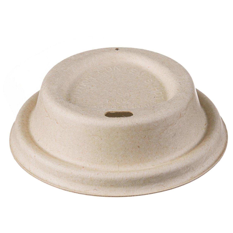 Deckel für Coffee-TO-GO Pappbecher aus Zuckerrohr Motiv Triangle Ø 90mm, 50 Stk.