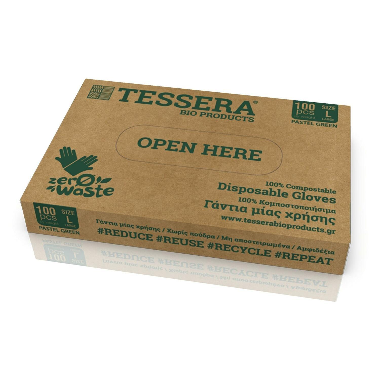Biologisch Abbaubare und Kompostierbare Handschuhe aus Maisstärke L, 100 Stk.