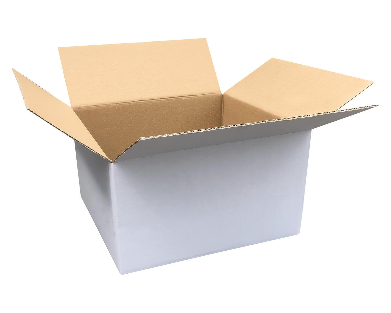 Verpackungs- und Versandkarton 500x400x300mm, 2-wellig, weiß