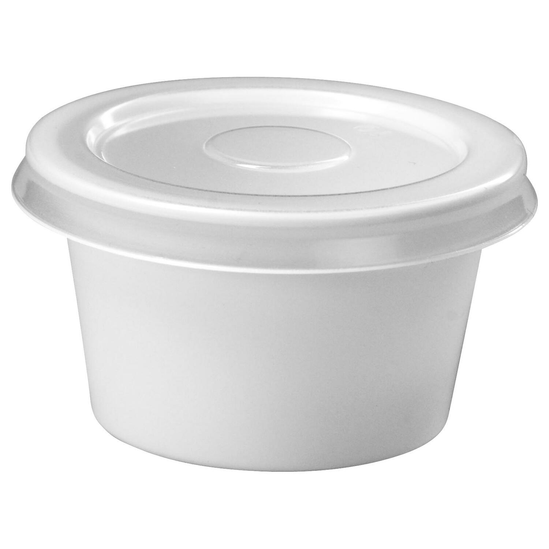 butterbecher dressingbecher 30ml wei mit transparentem deckel aus pp 100 stk. Black Bedroom Furniture Sets. Home Design Ideas