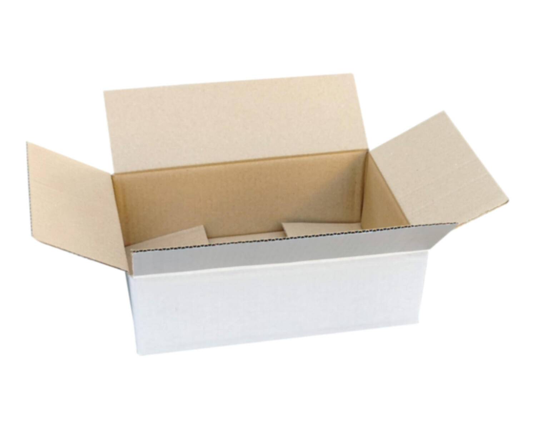 Verpackungs- und Versandkarton 195x145x90mm, 1-wellig, weiß