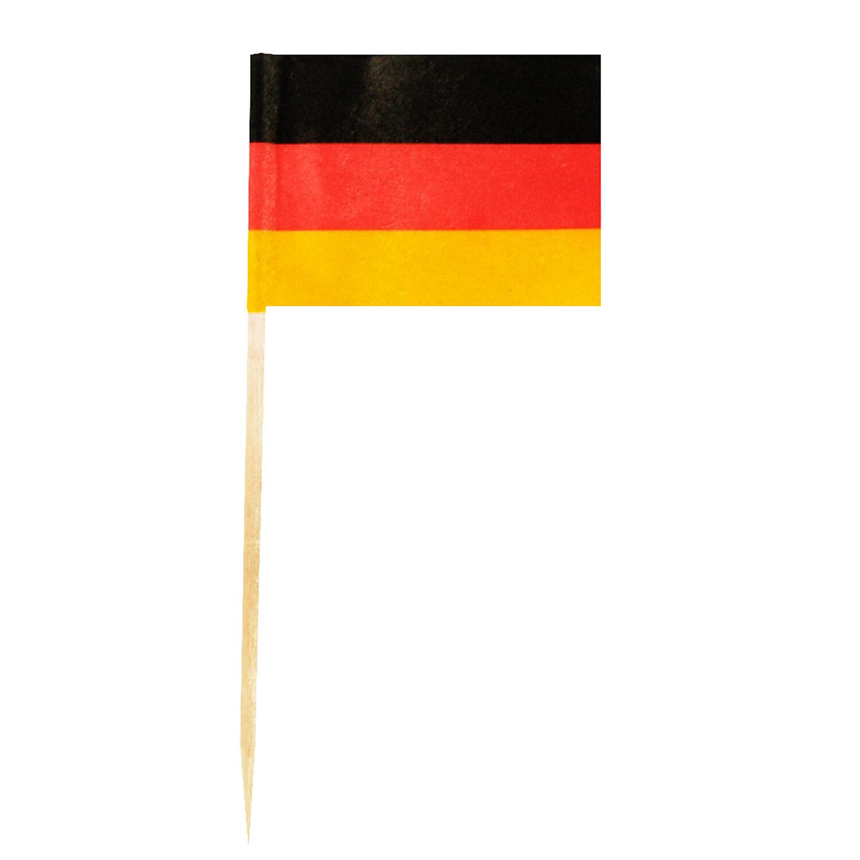 Flaggenpicker Fahnenpicker Deko-Picker Land Deutschland,  50 Stk.