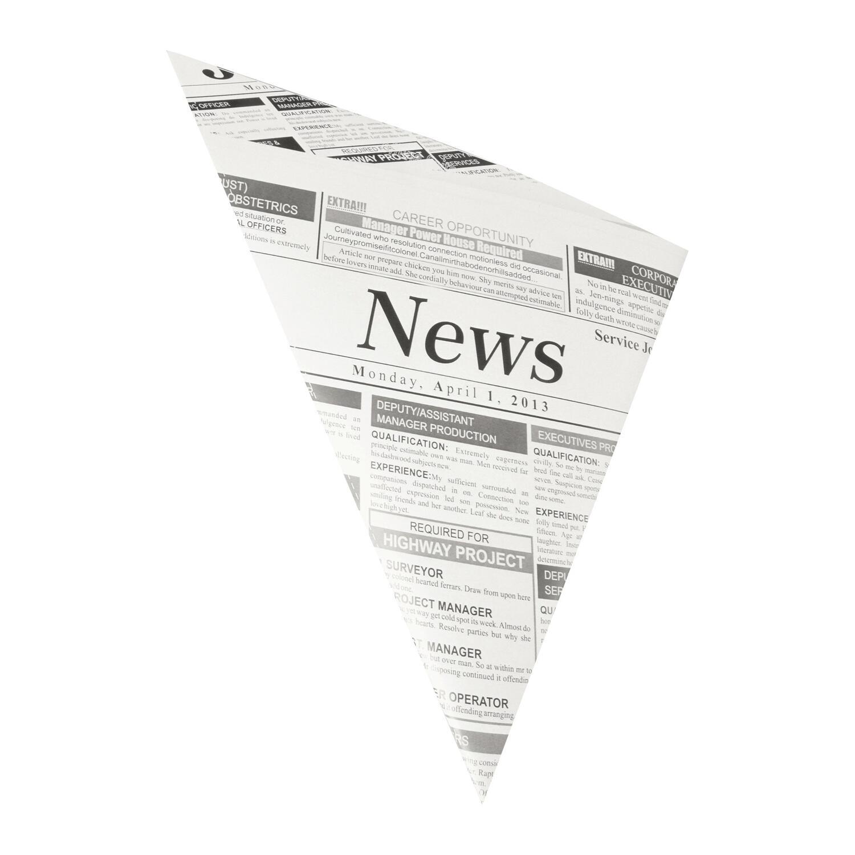 Spitztüten Pergamentersatz fettdicht 23x23x33cm 250gr. Zeitungspapier, 100 Stk.