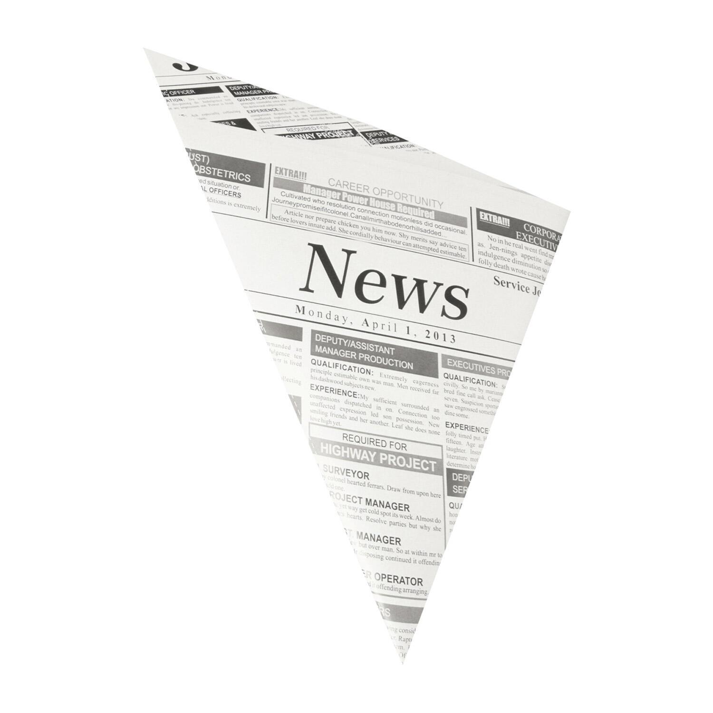 Spitztüten Pergamentersatz fettdicht 19x19x27cm 125gr. Zeitungspapier, 100 Stk.