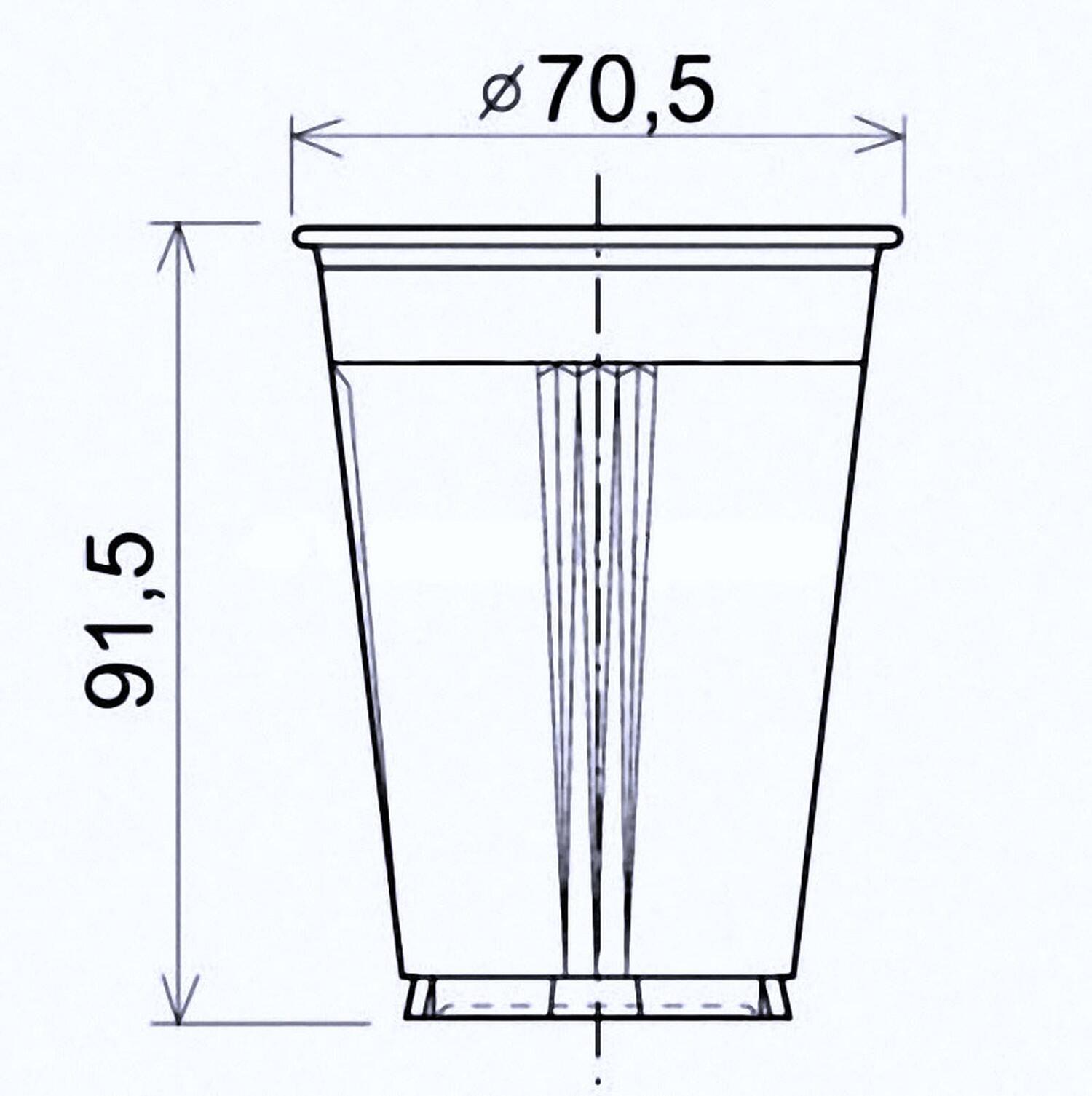 Automatenbecher Heißgetränkebecher braun/weiß geriffelt, 180ml, 100 Stk.