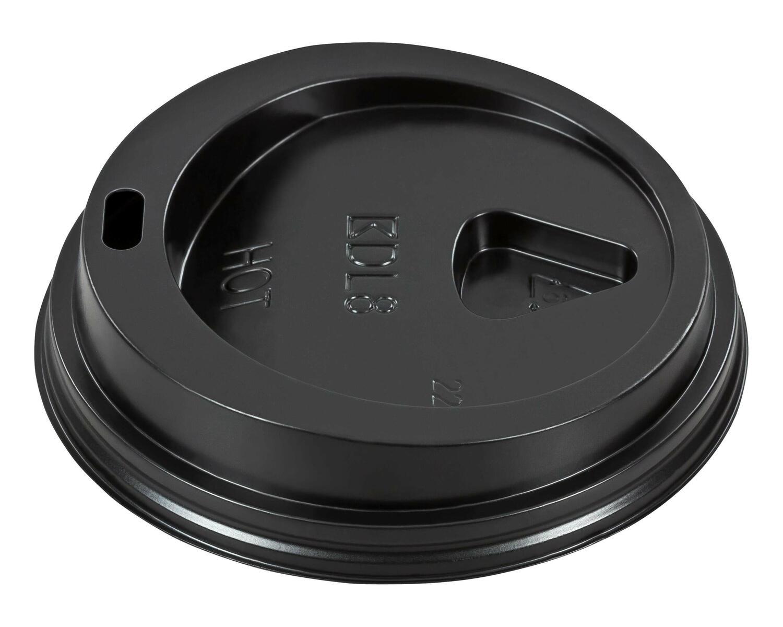 Domdeckel schwarz für Pappbecher - Coffee to go - 200ml mit 80mm Ø, 100 Stk.