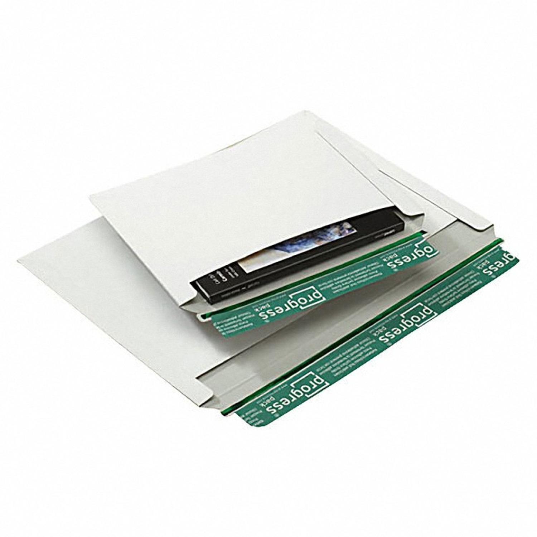 Vollpappe-Versandtasche V07.01 mit Querbefüllung, 225x160mm, A5, weiß