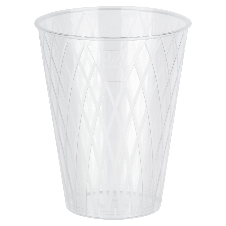 Apfelweinglas 0,25l   250ml Raute-Design mit Eichstrich glasklar PS, 40 Stk.