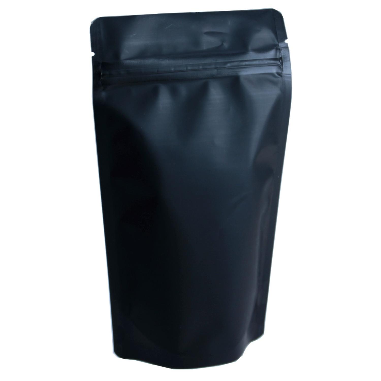Standbodenbeutel PET schwarz matt, 160x270x80mm, 750ml, 500 Stk.