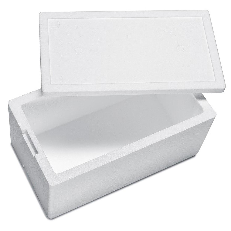 Isolierbox mit Deckel aus Styropor EPS, 485 x 270 x 235 mm, 16 Liter