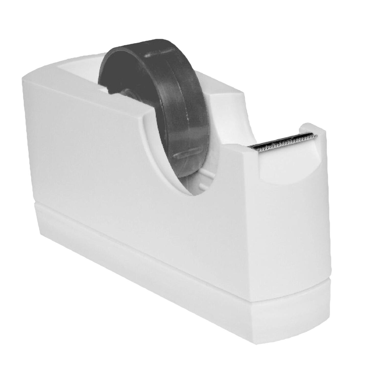 Tischabroller für 19 und 25mm Klebefilm Klebeband Kern: 25 + 76mm weiß