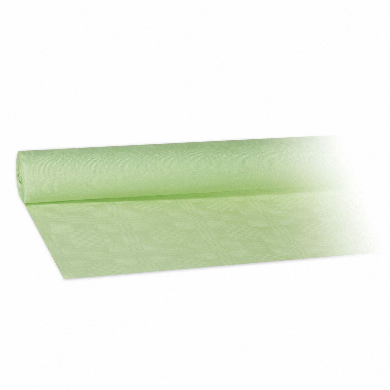 Damasttischdecke Tischtuch aus Papier, gerollt 1,20m x  8m, gelbgrün