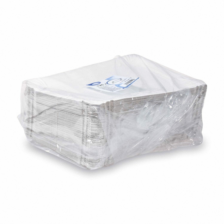 Pappteller Kuchenteller Imbissteller Teller Recycling 21 x 29 cm weiß, 125 Stk.