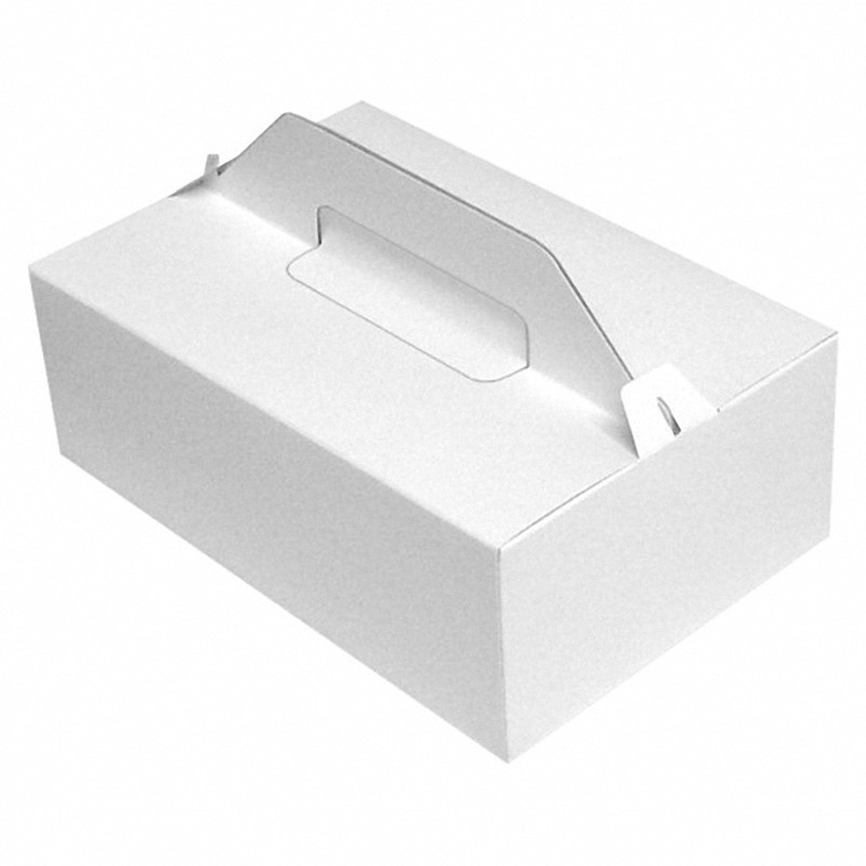 Tragebox für Tortenstücke und Kuchenstücke 27x18x10cm, weiß, 50 Stk.