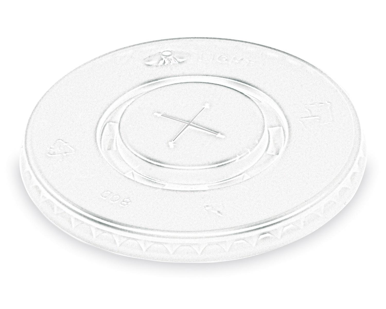 Deckel mit Kreuzschlitz für Pappbecher und EPS-Thermobecher mit Ø 80mm 100 Stk.