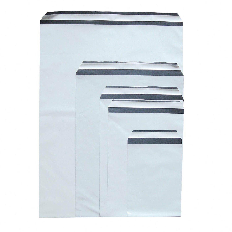 Folienversandtaschen Plastikversandbeutel COEX 165x220+40mm, 60my, C5, 100 Stk.