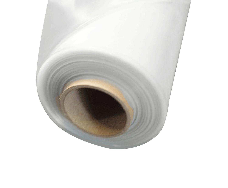 Abdeckfolie Baufolie, transparent / milchig  4000mm x 50m, 100my LDPE