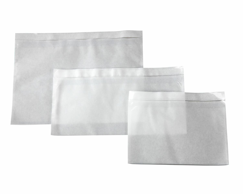 Dokumententaschen Begleitscheintaschen transparent DIN Lang 235x130mm  1000 Stk.