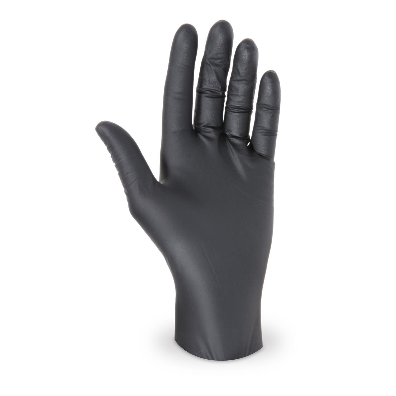 Latex Einweghandschuhe schwarz ungepudert Größe M, 100 Stk.