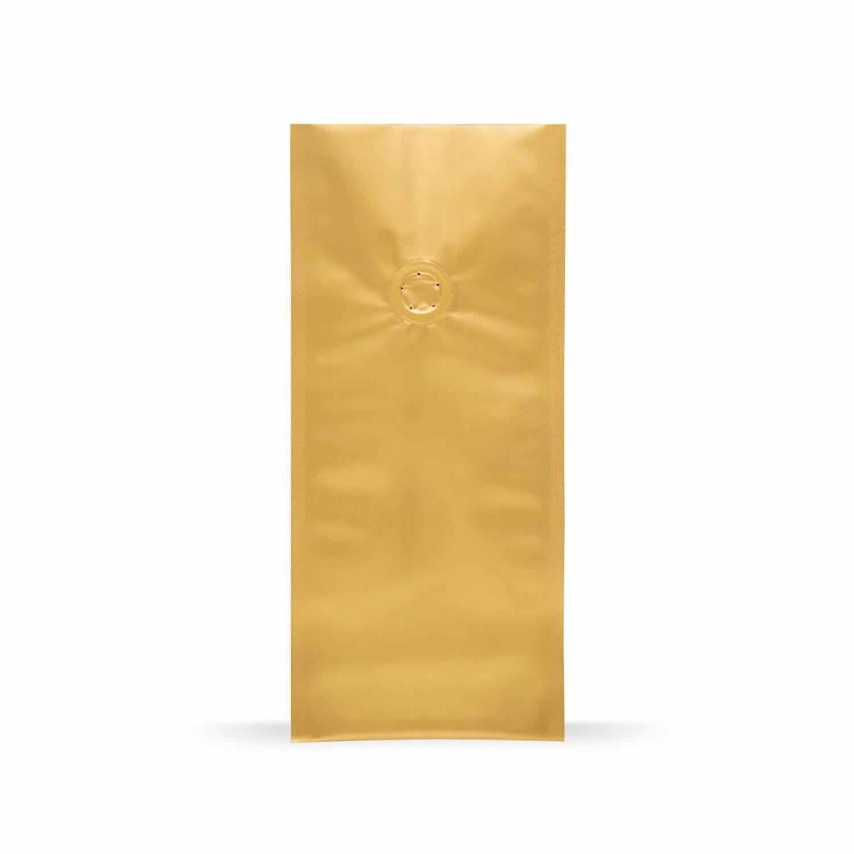 Quad Bags 120x90x290 mm mit Aromaschutzventil, 500g, gold, 1000 Stk.