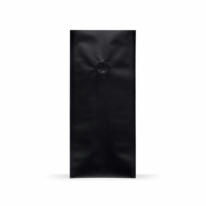 Quad Bags 120x90x290 mm mit Aromaschutzventil, 500g, schwarz, 1000 Stk.