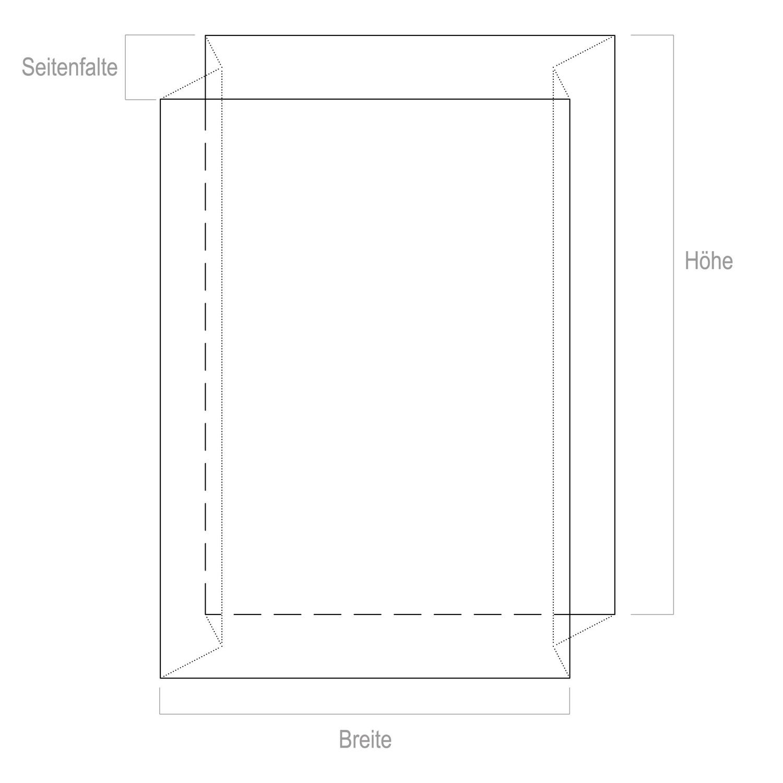 Seitenfaltensack 1250+850x2600, transparent, 2500liter, 70my