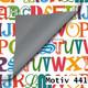Geschenkpapier Luxe DUO zweiseitig 60 cm x 200 m | Motiv 441 Alphabet ABC