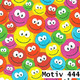 Geschenkpapier Luxe  60 cm x 250 m | Motiv 444 bunte Smileys