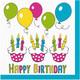Motivservietten 3-lagig, 33 x 33 cm mit Geburtstag Happy Birthday, 20 Stk.