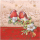 Weihnachtsservietten 3-lagig 33 x 33 cm Weihnachtsgezwitscher, 20 Stk.