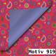Geschenkpapier Royal DUO zweiseitig 30 cm x 200 m   Motiv 919 Paisley rosa