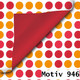 Geschenkpapier Exclusiv DUO zweiseitig 30 cm x 200 m | Motiv 946 Punkte