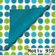 Geschenkpapier Exclusiv DUO zweiseitig 30 cm x 200 m | Motiv 950 Punkte