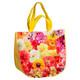 Tragetasche Shopper gewebt Flowerpower halbrund 50+25x45 cm Mehrweg